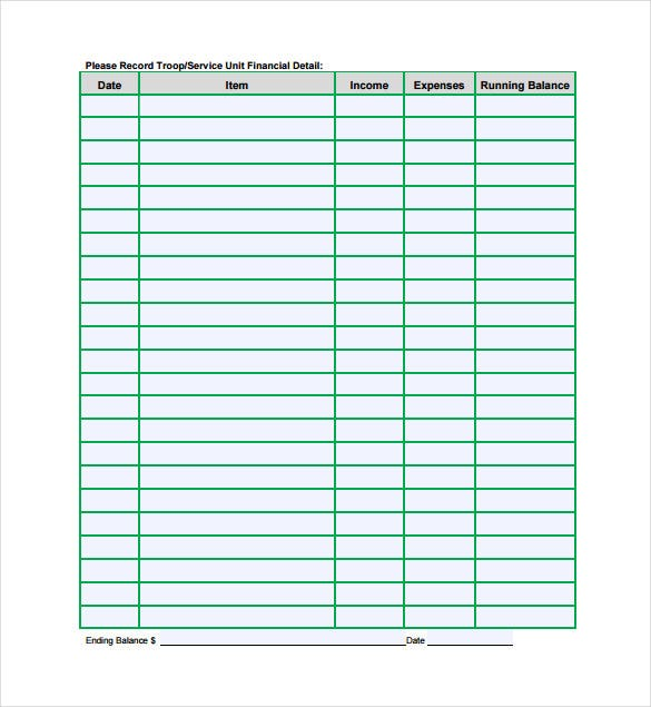 annual financial spreadsheet pdf template free download