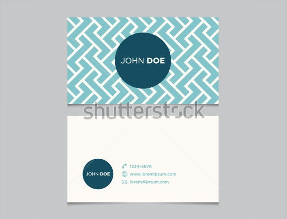 Blue Pattern Blank Business Card Template