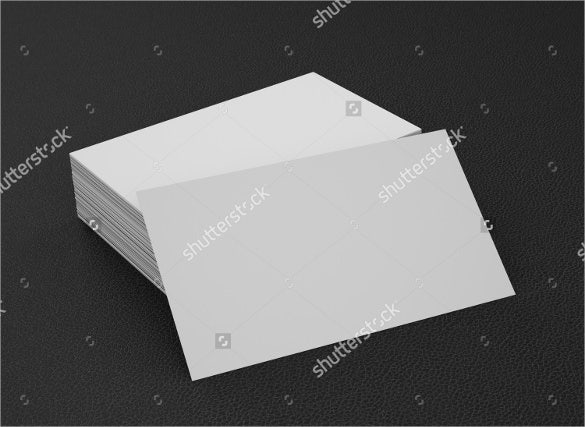 Blank business card template business card template for Business cards blank