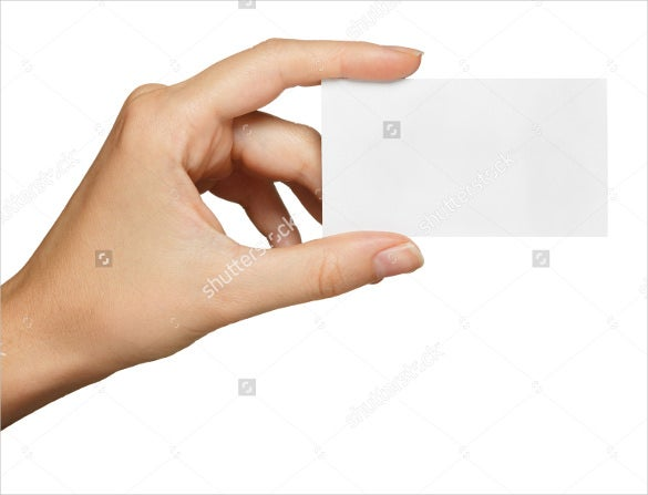 Blank business card template 39 business card templatefree hand hold blank business card reheart Choice Image