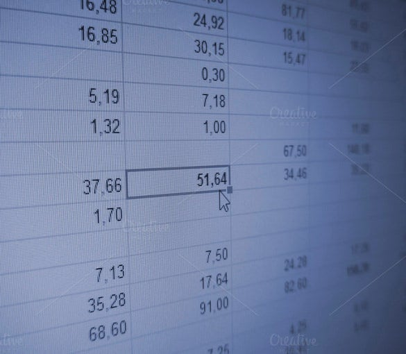 financial spreadsheet template download