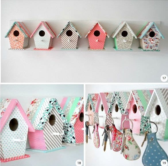 bird house key holder for your keys