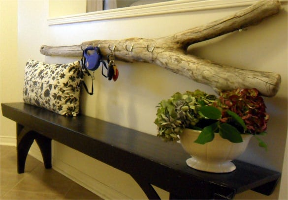 keys driftwood holder