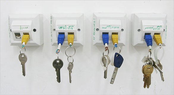 geeky rj45 usb cable key holder