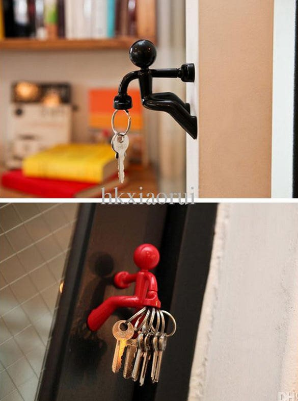 human shaped key holder