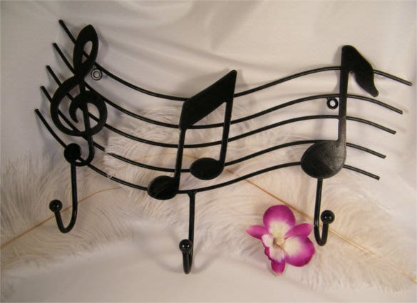 musical key holder