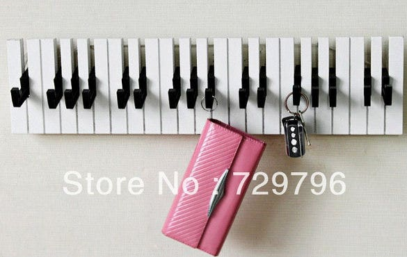 piano key holder