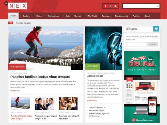 tb nex news drupal theme