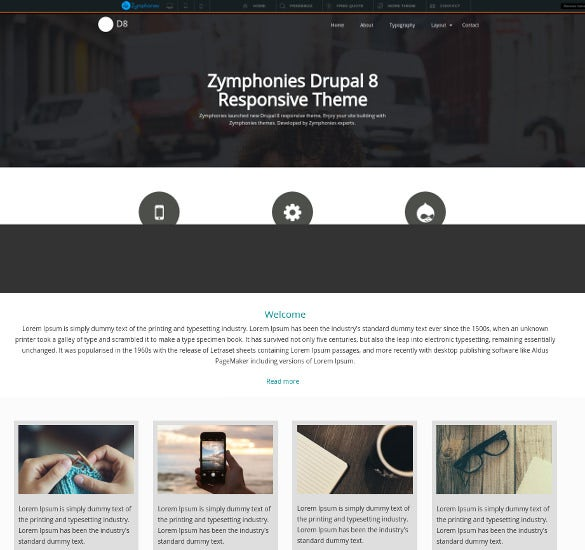 zymphonies drupal news theme