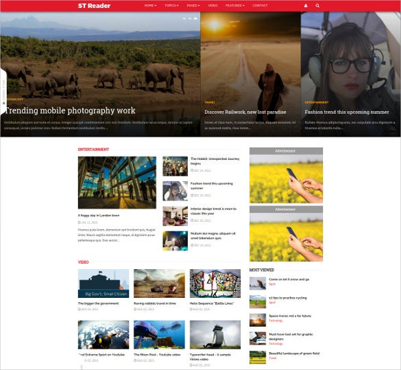 reader news drupal theme