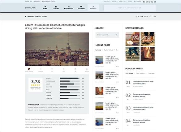 drupal mag responsive magazine news theme