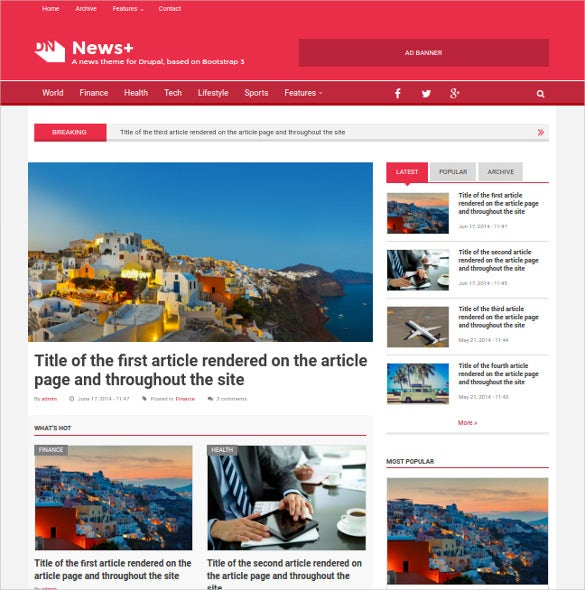 news drupal theme download