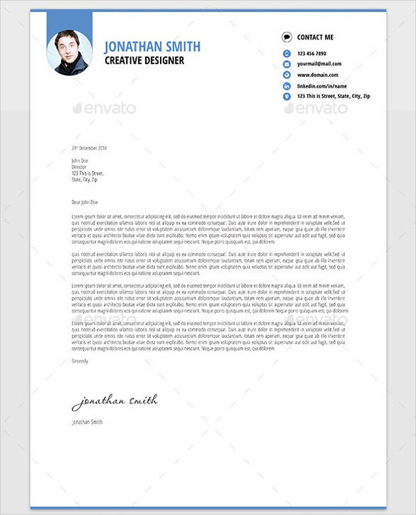 cover letter for a resume example