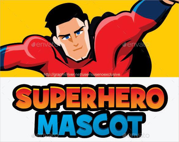 superhero logo mascot vector eps format