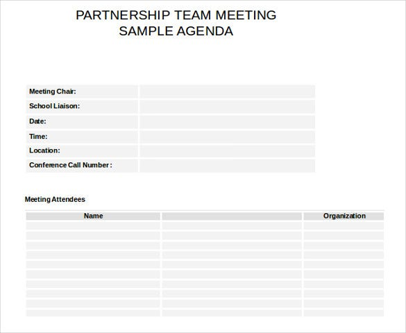 10  meeting itinerary template