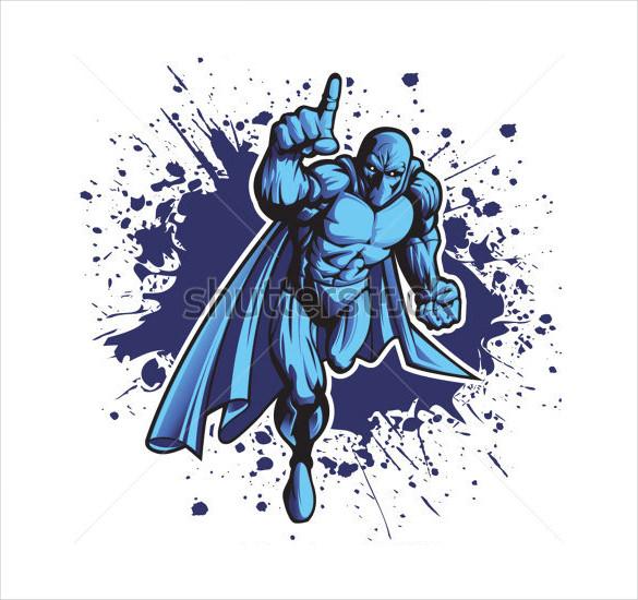 dark superhero logo template download