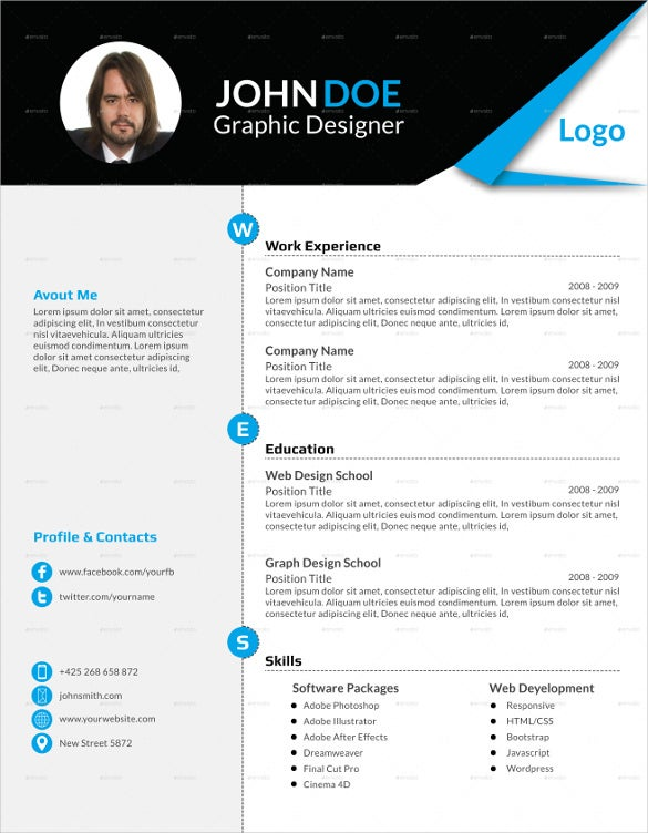 blank resume format free download template pdf