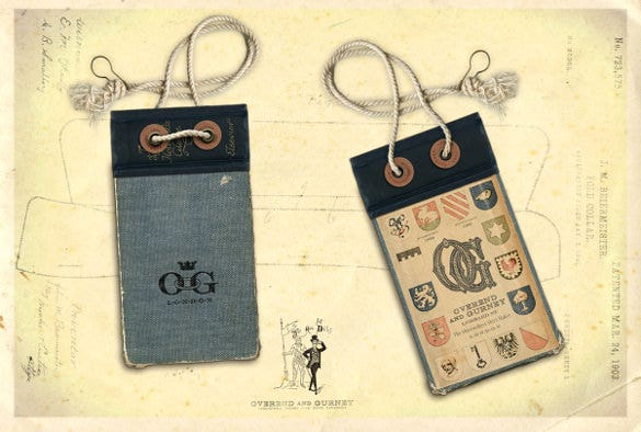 overend and gurney hang tag template
