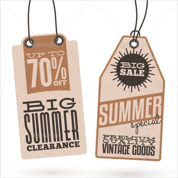 Hang Tag Template   Free Printable Vector Eps Psd  Ai