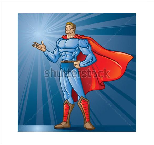 generic superhero logo template
