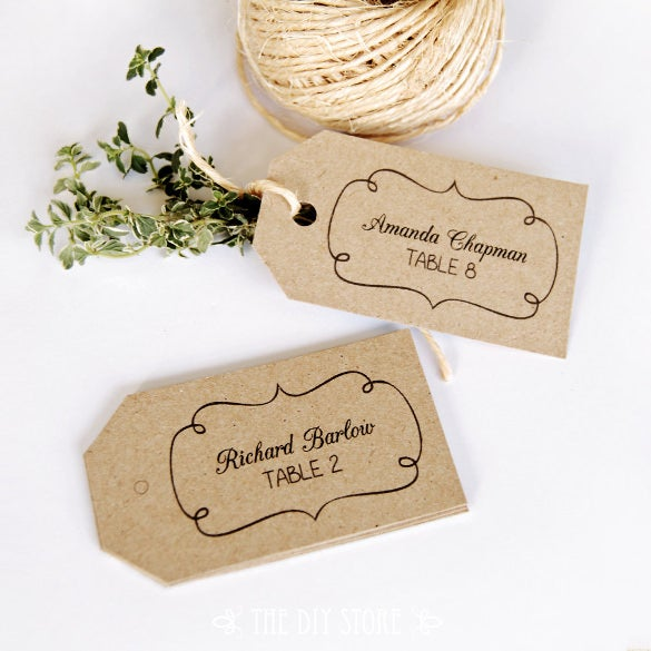 escort printable card hang tag template