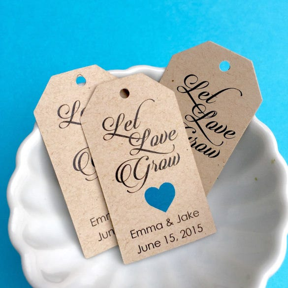 let love grow personalized hang tag template