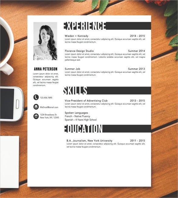 blank resume template  u2013 15  free psd  vector eps  ai  format download