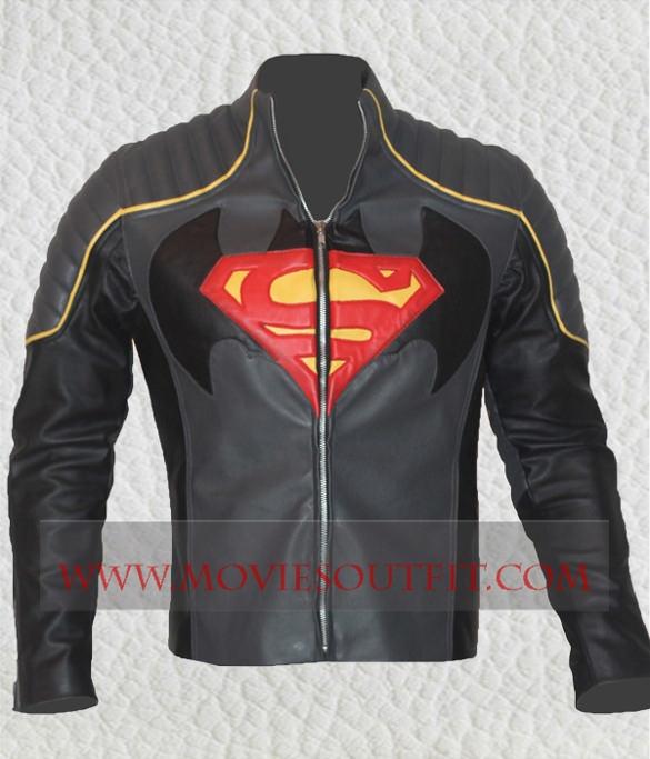 batman vs superhero logo on jacket