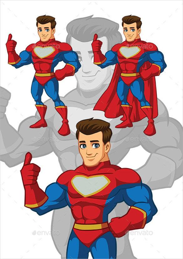 muscle superhero logo mascot download1