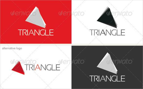 triangle logo ai illustrator template