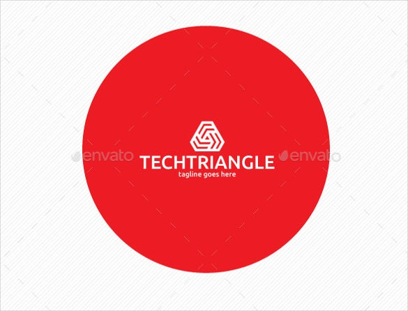 tech triangle logo template download