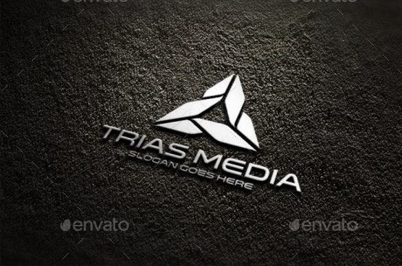 trinity triangle logo template