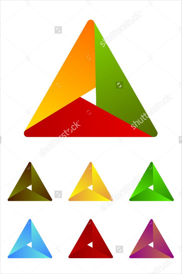 ribbon vector design triangle logo element