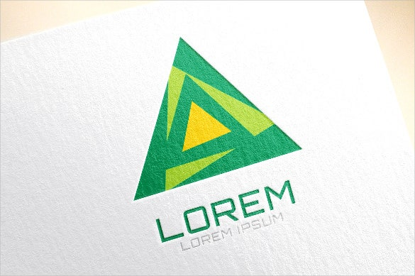 triangle shape logo vector