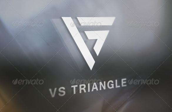 vs triangle logo template