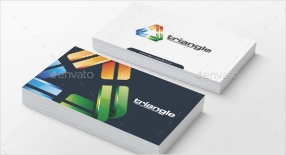 colorful triangle logo template