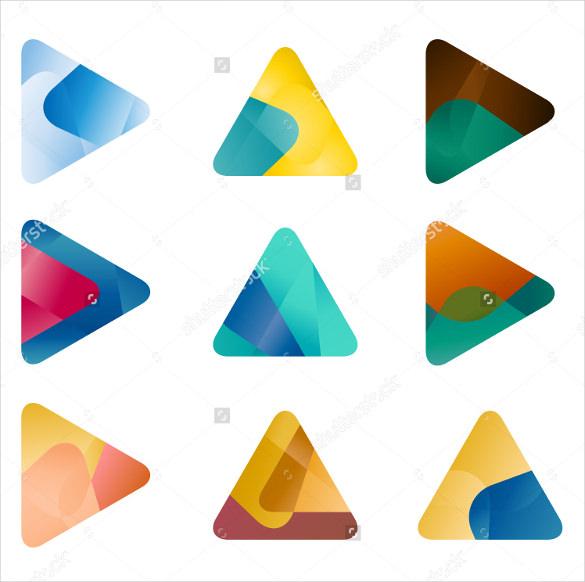 design triangle arrow vector logo template