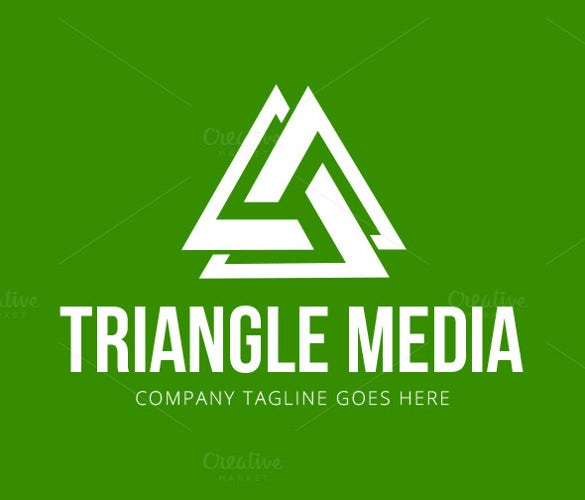 triangle media logo template download