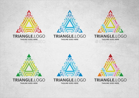 triangle logo template vector eps download