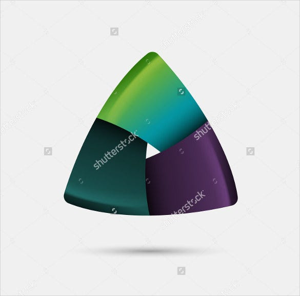 triangular abstract shape eps vector