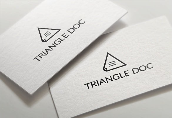 triangle document logo template download