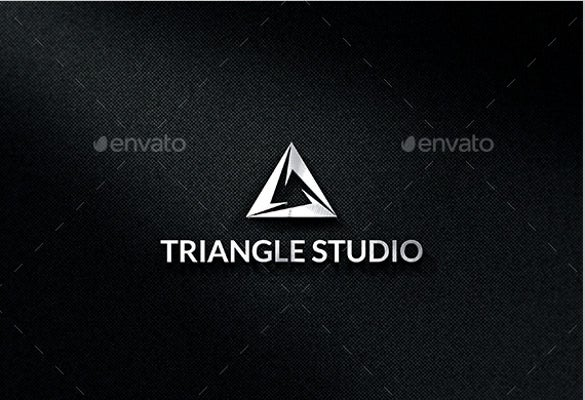 triangle studio logo template