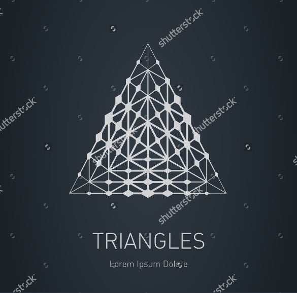 modern stylish triangle logo template download
