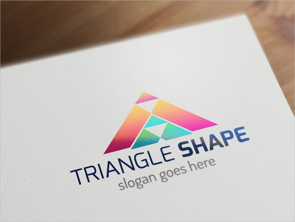 triangle shape logo template1