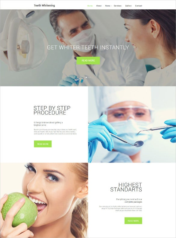 teeth whitening website jquery html5 template