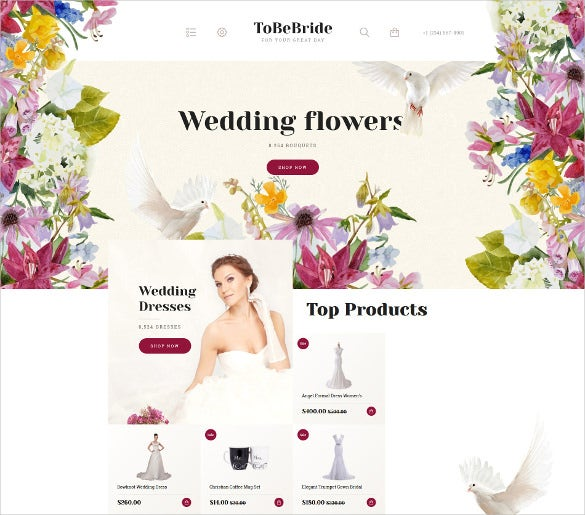 wedding jquery html5 opencart template