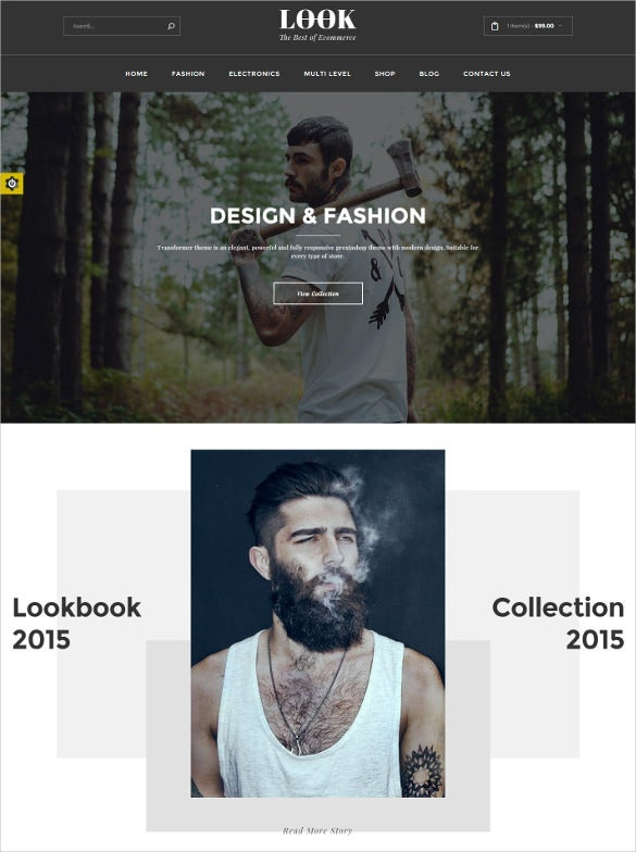 ecommerce jquery html5 template