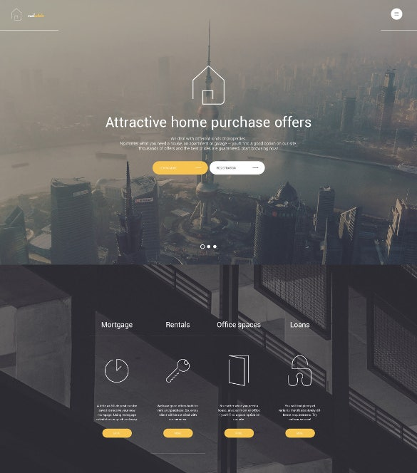 real estate wordpress responsive theme