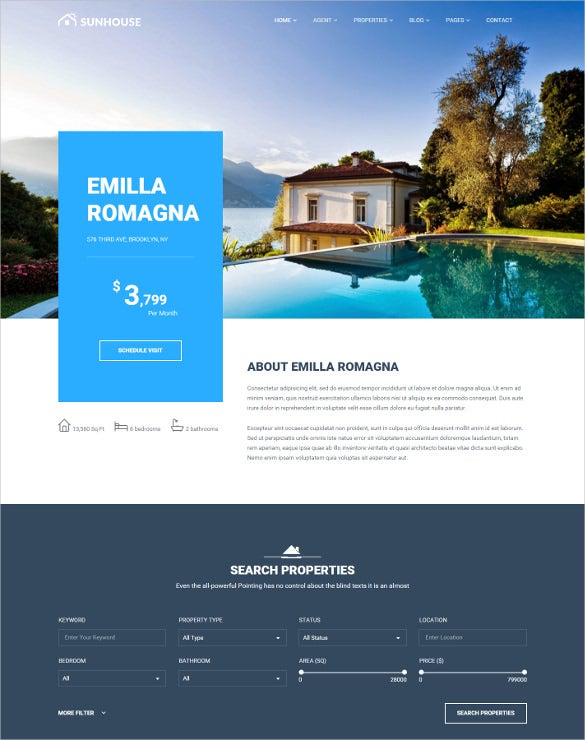 multiconcept real estate wordpress theme