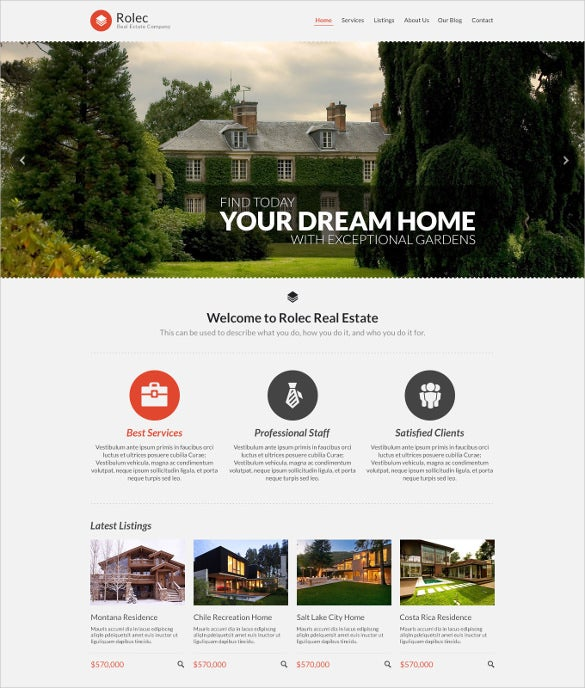 responsive real estate business wordpress theme